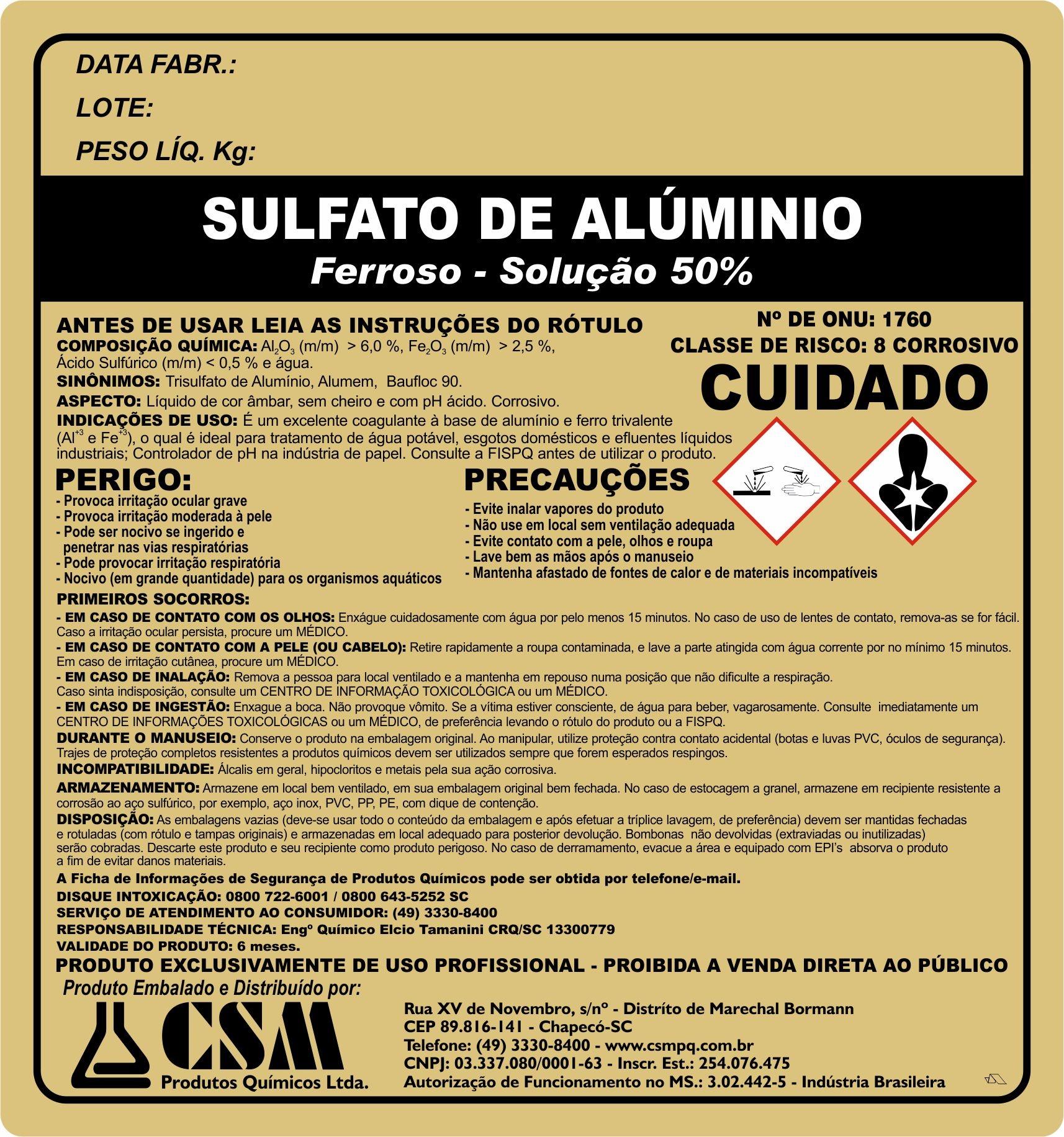 Sulfato de alumino ferroso