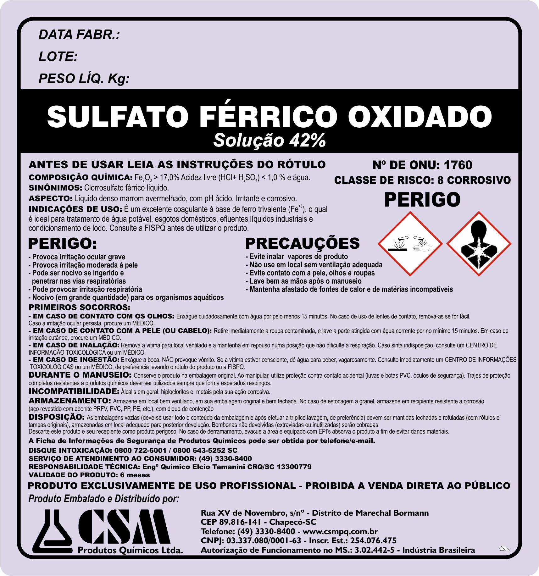 Sulfato ferrico oxidado